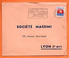 CLERMONT FERRAND   CENTRE TOURISTIQUE       11  / 4 / 1965    Lettre Entière  N° F 238 - Postmark Collection (Covers)