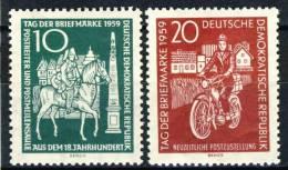 "1959 German Democratic Republic Complete MNH (**) Set Of 2 Stamps"" Stamp Day  "" Michel 735-36 - [6] Democratic Republic"