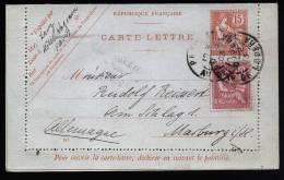 A1750) Frankreich France Kartenbrief Von Paris 10.2.1903 Nach Marburg