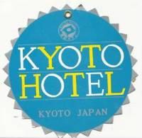 Etiquette De Bagage - Kyoto Hôtel  - Japon - Hotel Labels