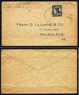 A1752) US Commercial Cover With Scott #611 To Philadelphia 1924 (?) - Briefe U. Dokumente