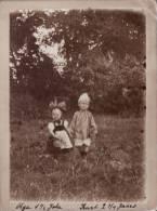 Originale Photo Cabinet 08/1901 Enfants Allemands Avec Costume Traditionnel (A25, Ww1, Wk1)