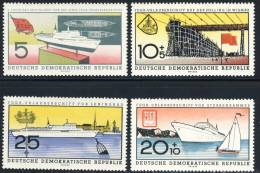 "1960 German Democratic Republic Complete MNH (**) Set Of 4 Stamps "" Cruiseship Fritz Heckert  "" Michel 768-71 - Unused Stamps"