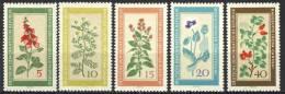 "1960 German Democratic Republic Complete MNH (**) Set Of 5 Stamps "" Healing Plants  "" Michel 757-61 - Unused Stamps"