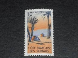 COTE DES SOMALIS YT 264 ** - TENTE DANAKIL ARBRE PALMIER - - Côte Française Des Somalis (1894-1967)
