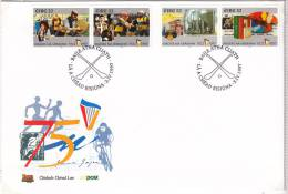 1997 Eire Irlanda Ireland 75 Ann IRISH FREE STATE II Commerce Artssport Music. SG 1108/09/14/15 FDC - FDC