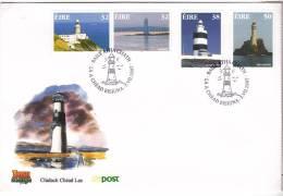 1997 Eire Irlanda Ireland LIGHTHOUSES SG 1136/39 FDC - FDC