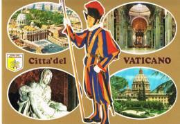 VATICAN - CITTA Del VATICANO- Multivues Avec Suisse - Cpm - SCANS RECTO VERSO - Vatican