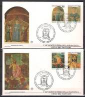 Vatican 1992 Madonna,Childbirth,Jesus Christ,Resurrection,Paint Ings,Religion,FDC - Tableaux