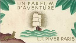 Carte Parfumée - L.T. PIVER - Paris - UN PARFUM D'AVENTURE - Calendrier 1931 - Anciennes (jusque 1960)