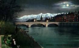 Grenoble   168          Pont De L'hôpital Et Les Alpes   . - Grenoble