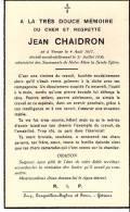Vresse-sur-Semois-1936-Faire-part   De Décès De Mr Jean Chaidron-Décédé Accidentellement - Avvisi Di Necrologio