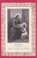 Image Pieuse -  Sainte-Anne (1851 Au Crayon Au Verso) - Images Religieuses
