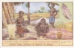Liebig Trade Card S1437 Congolese Craftmanship No 2 La Vannnerie - Liebig