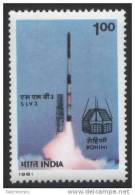"""INDIA,1981, SLV-3, Take Off,  Launch Of """"SLV 3"""" With """"Rohini"""" Satellite,  MNH, (**) - India"""
