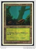 Karte Magic The Gathering  -  Land  -  Wald  -  Deutsch - Magic The Gathering