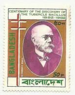 BANGLADESH 1983 MNH ROBERT KOCH´S DISCOVERY OF TUBERCLE BACILLUS, TB, DISEASE, HEALTH, MEDICINE, MEDICAL - Bangladesh