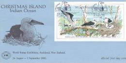 Christmas Island 1990 Abbott's Booby NZ 1990  FDC - Christmas Island