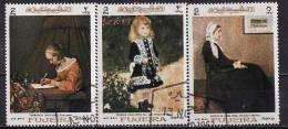 28-750 // AE - FUJEIRA - 1967  PAINTINGS  Mi 203/05 O Airmail Stamps - Fujeira