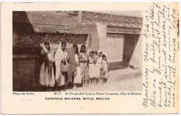 MEXICO - MITLA - Zapoteca Maidens, #21 +++ To SALEM, South Dakota, USA +++  Sonora News Company, City Of Mexico +++ - Mexique