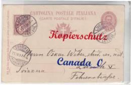 B  5  --  Ganzsache P 29  V Belklaria /Ital. Post-O Lugano N. Zürich  219.1897 - Stamped Stationery
