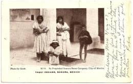 MEXICO - SONORA - Yaqui Indians, #19 +++ To SALEM, South Dakota, USA +++  Sonora News Company, City Of Mexico +++ - Mexique