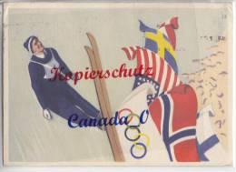 B  5  --  Olympia Karte V. Oslo 21.2.1952 N Löschenrod Krs.Fuklda - Hanover