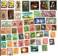 NEW ZEALAND LOT164 MIXTURE OF50+ USED STAMPS FROM QV THEN KGV & KGVI TO QEII ETC.READ DESCRIPTION!! - Vrac (max 999 Timbres)
