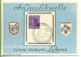 1947, 6 Pf. Auf Gedenkbl. 2. Parlament Der Freien Deutschen Jugend Tagesstempel: Meissen 26. Mai. 1947 Zustand: I-II Kar - Zone Soviétique
