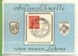 1947, 8 Pf. Auf Gedenkbl. 2. Parlament Der Freien Deutschen Jugend Tagesstempel: Meissen 24. Mai. 1947 Zustand: I-II Kar - Zone Soviétique