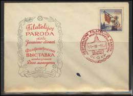 RUSSIA USSR Private Envelope LITHUANIA VILNIUS VNO-klub-014 Philatelic Exhibition S Soviet Scouting - 1923-1991 USSR
