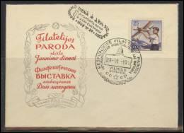 RUSSIA USSR Private Overprint On Private Envelope LITHUANIA VILNIUS VNO-klub-017 Philatelic Exhibition Aviation - 1923-1991 USSR