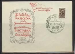 RUSSIA USSR Private Overprint On Private Envelope LITHUANIA VILNIUS VNO-klub-018-1 Philatelic Exhibition - 1923-1991 USSR