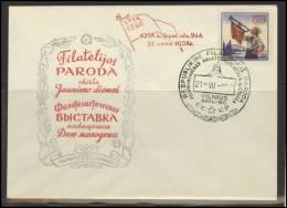 RUSSIA USSR Private Overprint On Private Envelope LITHUANIA VILNIUS VNO-klub-018-2 Philatelic Exhibition - 1923-1991 USSR