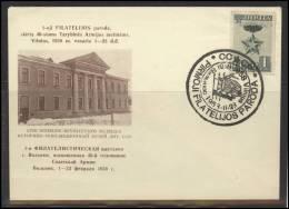RUSSIA USSR Private Envelope LITHUANIA VILNIUS VNO-klub-020 Philatelic Exhibition Soviet Armed Forces - 1923-1991 USSR