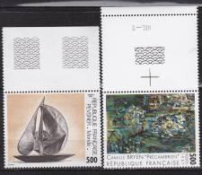 N° 2493 Et 2494 Série Artistique: 1 Timbre De Cette Série: Oeuvre De Camùille BRYEN Et Oeuvre D'Antoine PEVSNER - France