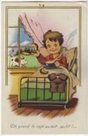 ENFANTS - On Prend Le Café Au Lait Au Lit.!.(carte Avec Ajouti). - Cartes Humoristiques