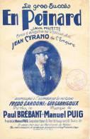 (g2) En Peinard , JEAN  CYRANO   , FREDO GARDONI  , GEO GARRIGOUX  , Musique : MANUEL PUIG - Partitions Musicales Anciennes