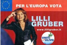 LILLI GRUBER UNITI NELL'ULIVO PER L'EUROPA VIAGGIATA USATA SEGNI DI NASTRO ADESIVO - Personaggi