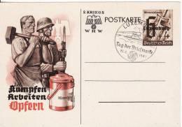 LUXEMBOURG-PROPAGANDE-KRIEGS W.H.W-1939-1945-REICH-Briefmarke-Stempel-Cachet-Militaire Allemand- - Cartes Postales