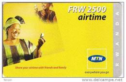 Rwanda, FRW 2,500 Airtime, Women With Phones, 2 Scans. - Rwanda
