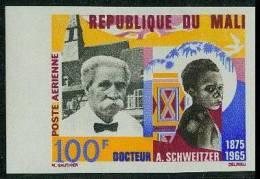 MALI Poste Aérienne  32 ** MNH Non Dentelé IMPERF : Albert SCHWEITZER Kaysersberg Nobel Paix - Albert Schweitzer