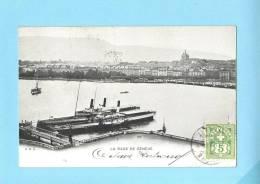 GENEVE SUISSE Schweiz Svizzera - La Rade.Old Postcard - GE Ginevra