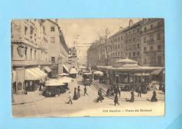 GENEVE SUISSE Schweiz Svizzera - Place Du Molard - Precurseur 1900 -  Animé Tram - GE Ginevra