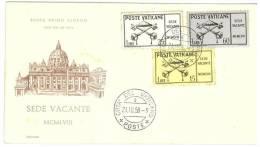 CITTA´ DEL VATICANO - FDC - ECCLESIA - SEDE VACANTE 1958 - 21 OTTOBRE - ANNO 1958 - II SCELTA - FDC
