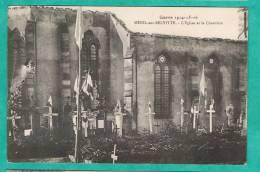 L - CPA  VOSGES (88)  MENIL-SUR-BELVITTE - L EGLISE ET LE CIMETIERE - GUERRE 14-15-16- - Francia