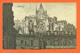 """Dpt  51  Reims  """"  Croisillon Sud De La Cathedrale  """"  Style Dessin - Reims"""