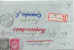 B  6  --   R-Brief V. München  - Land Brunnthal   1.2.1934 N.Mchn Mi.# 490 MiF Bahnpost  Mi€ 50 - Covers & Documents