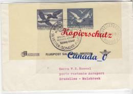 """B  6  --   Flugpost Salzbg - Brüssel  19.12.1950 So-O  Sylvester"""" # Brüssel Helipost  Mi€ 65 - Unclassified"""