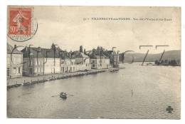Villeneuve-sur-Yonne (89) : Les Quais Au Niveau De La Maison Sellier Vins Et Spiritueux  En 1911 (animé). - Villeneuve-sur-Yonne
